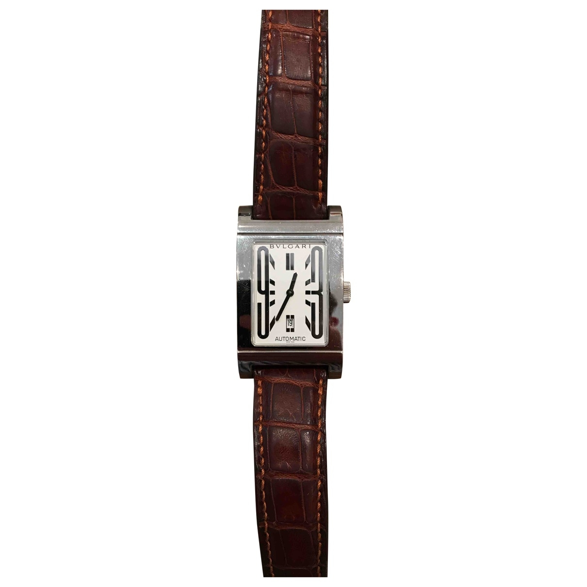 Bvlgari \N Brown Steel watch for Women \N