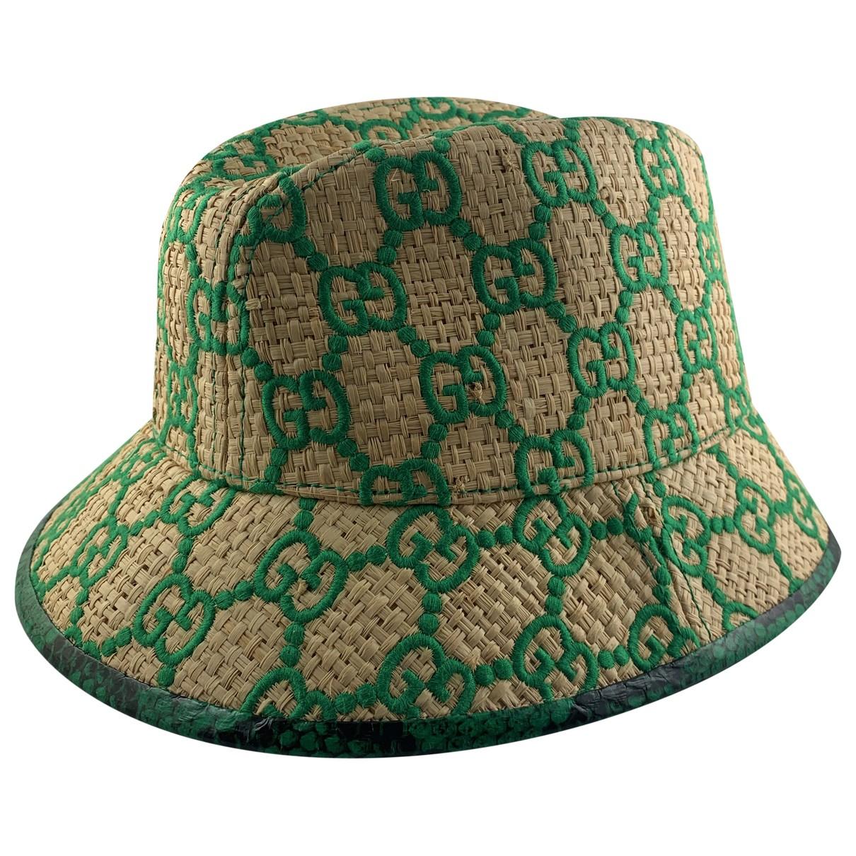 Gucci \N Green Wicker hat for Women S International