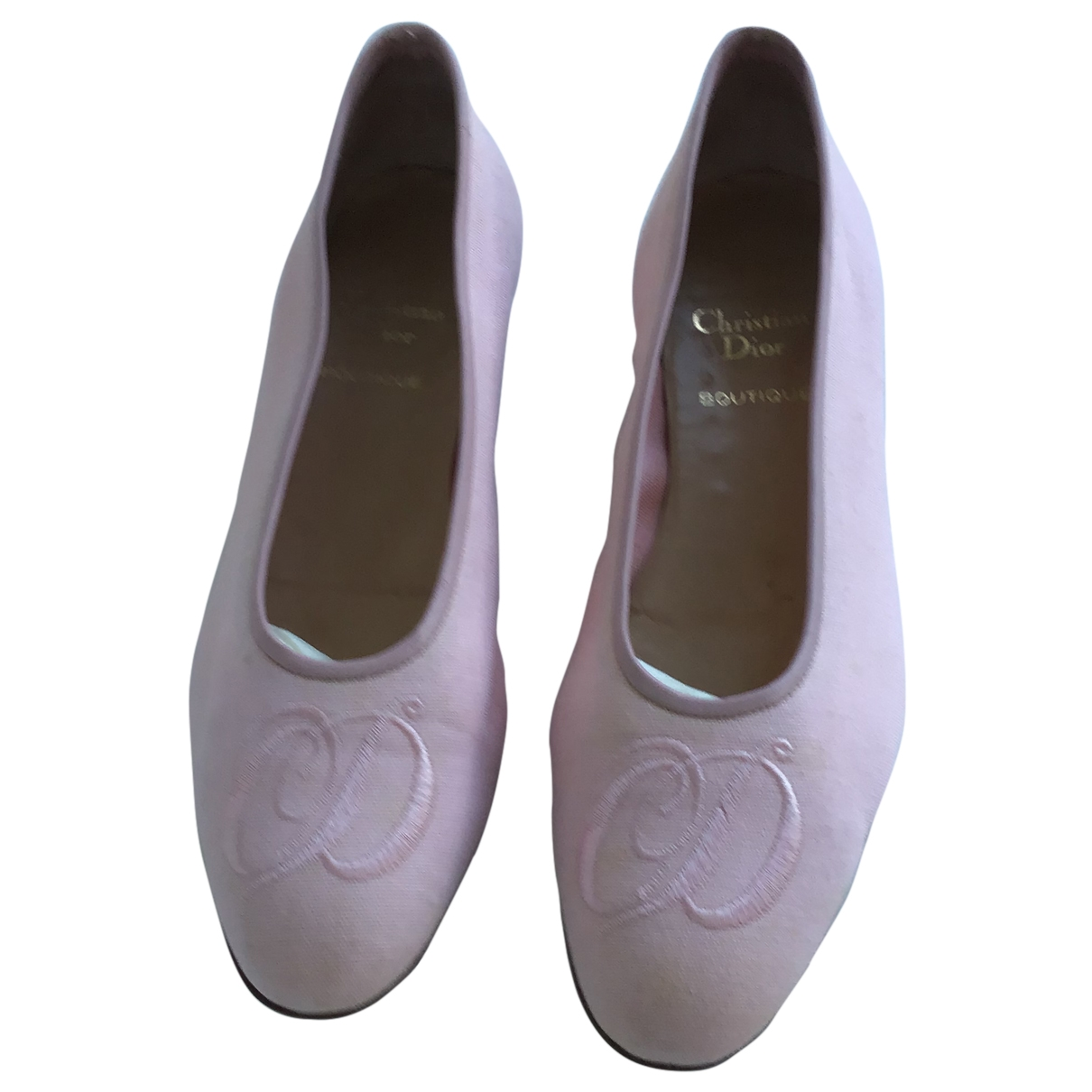 Dior \N Pink Cloth Ballet flats for Women 39.5 EU