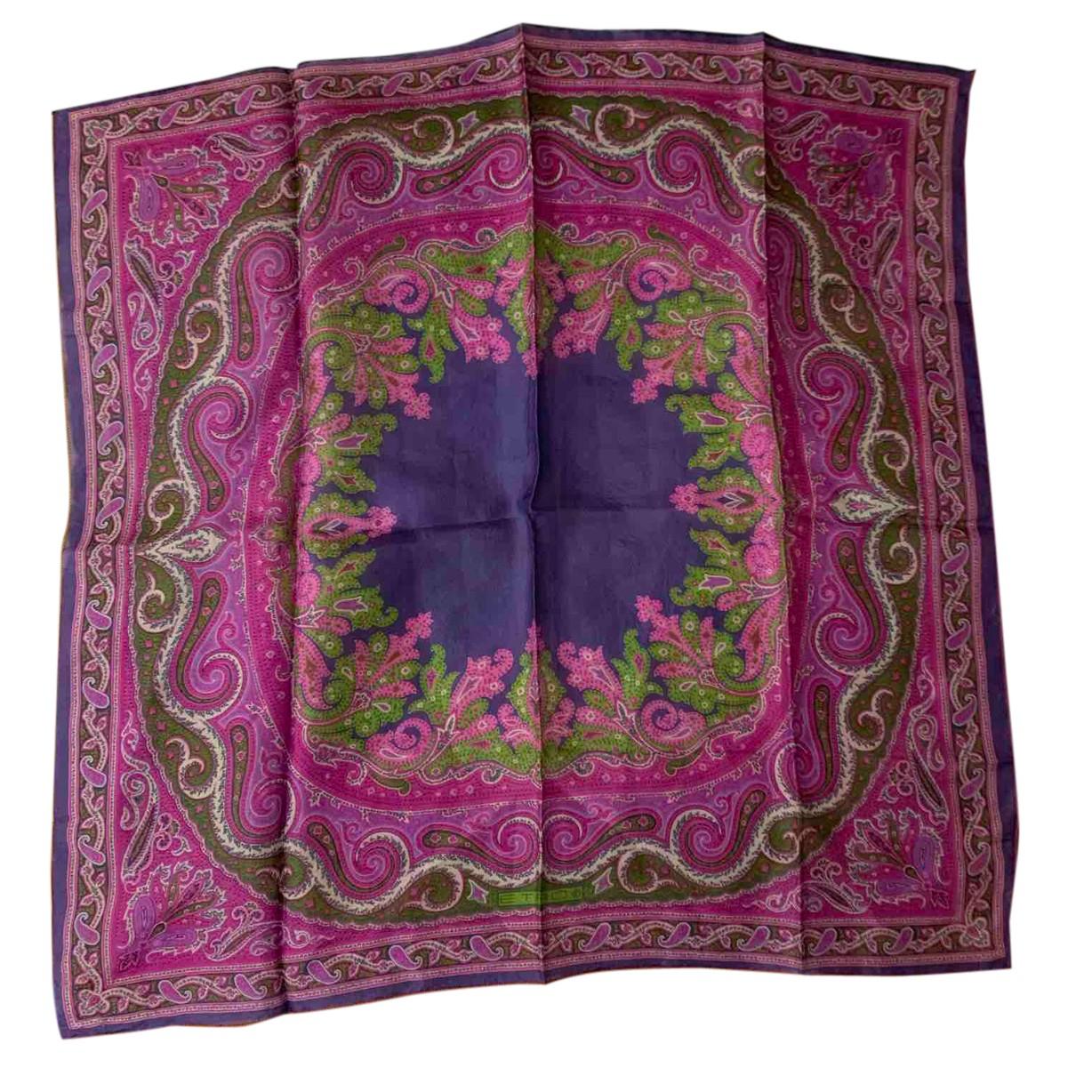 Etro - Foulard   pour femme en soie - violet