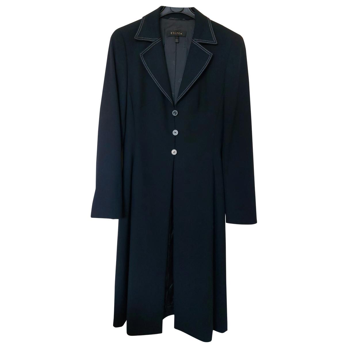 Escada \N Black Wool coat for Women 36 FR