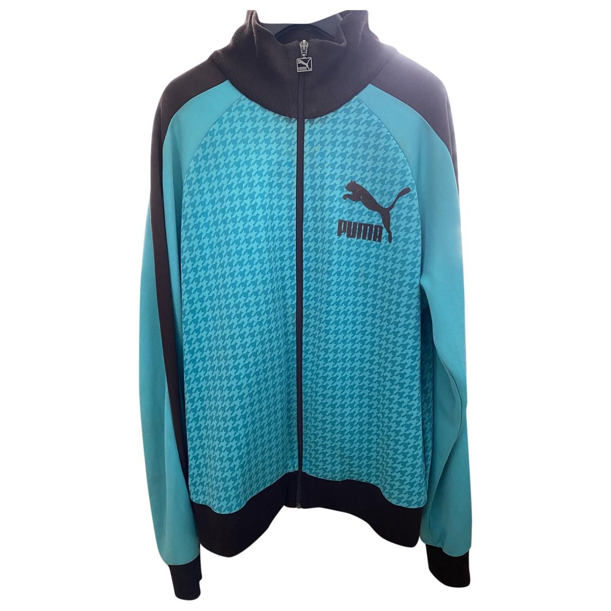 Puma \N Pullover.Westen.Sweatshirts  in  Tuerkis Baumwolle