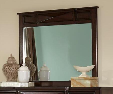 Spencer Collection SP6140M 43 x 38 Mirror with Square Shape  Beveled Edge  Wood Trim  Tropical Hardwood and Veneer Construction in Vernish Oak