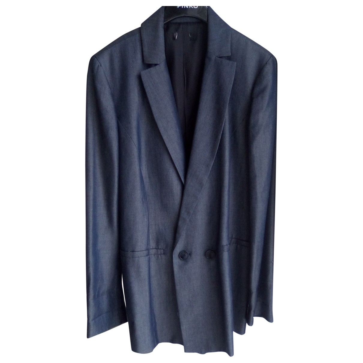 Non Signé / Unsigned \N Blue jacket for Women 44 IT