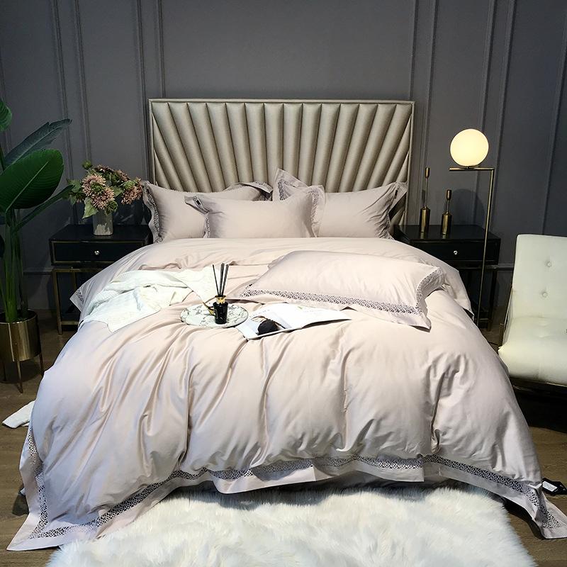 Long Staple Cotton Duvet Cover Set Four-Piece Set Long Staple Cotton Bedding Sets Six Color for You
