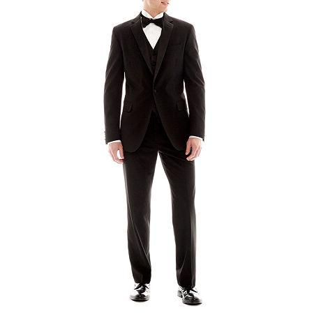 JF J.Ferrar Slim Fit Tuxedo Jacket, 46 Long, Black