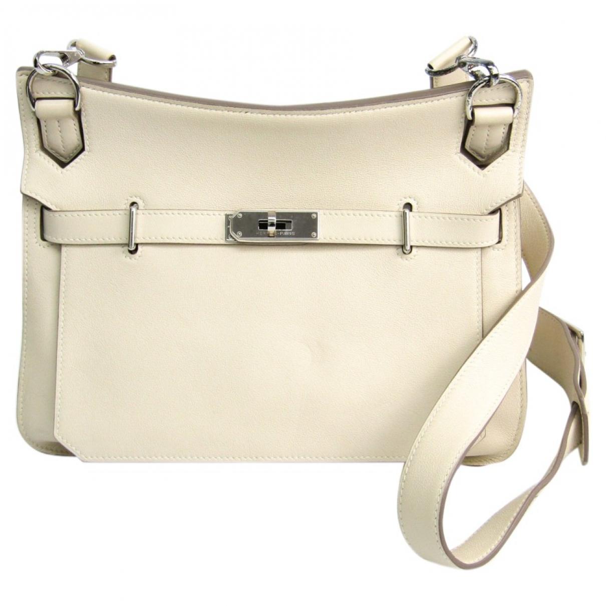 Hermès Jypsiere Beige Leather handbag for Women N