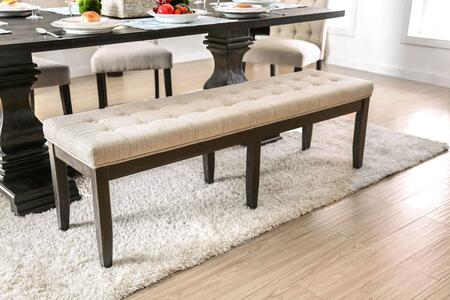 Nerissa Collection CM3840BN Bench in Ivory and