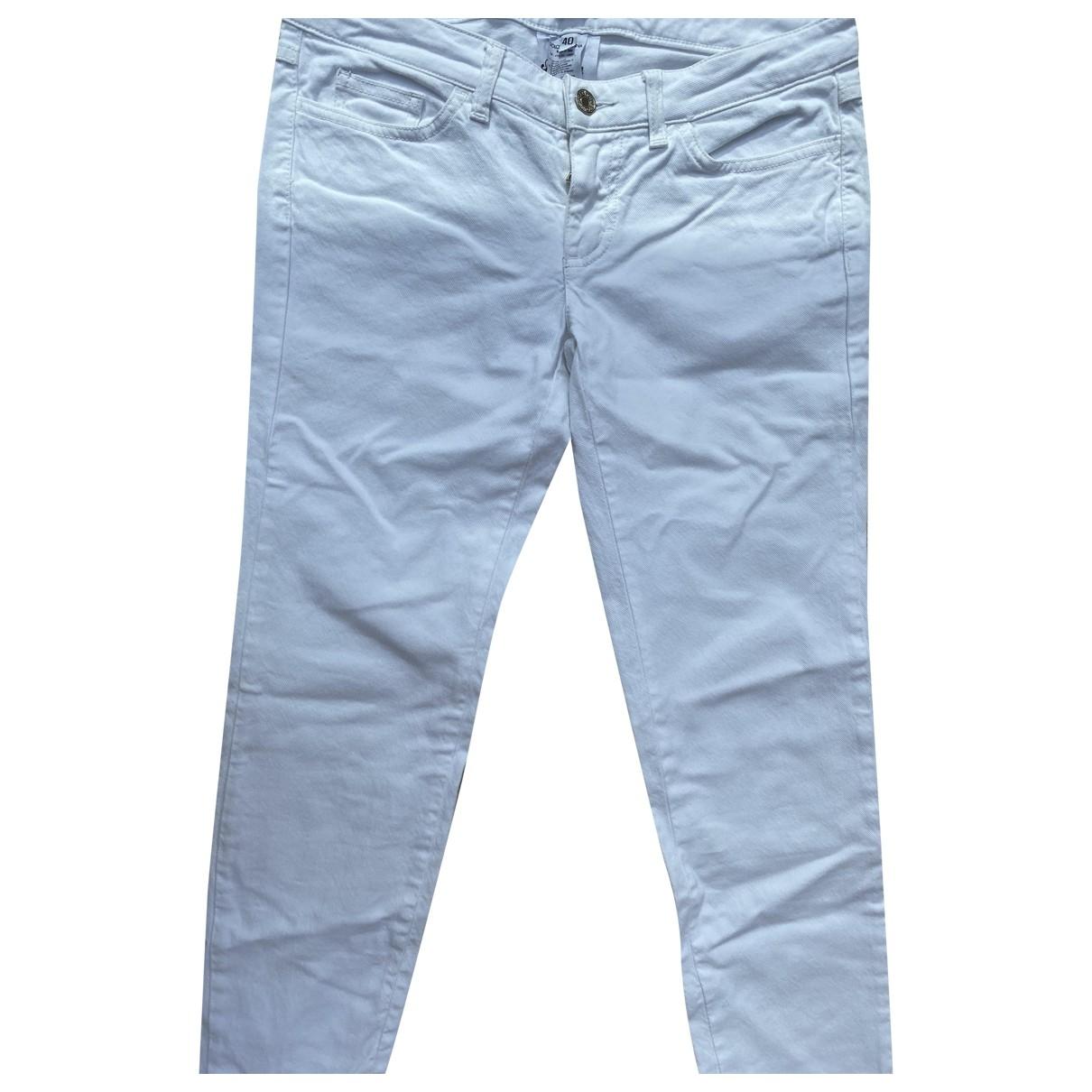 Dolce & Gabbana \N White Cotton - elasthane Jeans for Women 36 FR