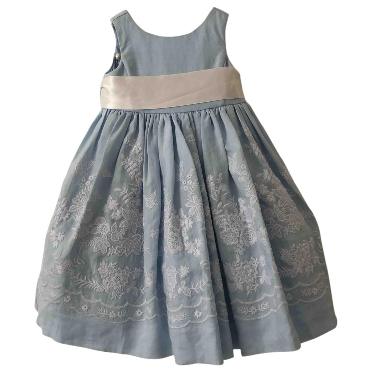 Ralph Lauren - Robe    pour enfant en coton - bleu