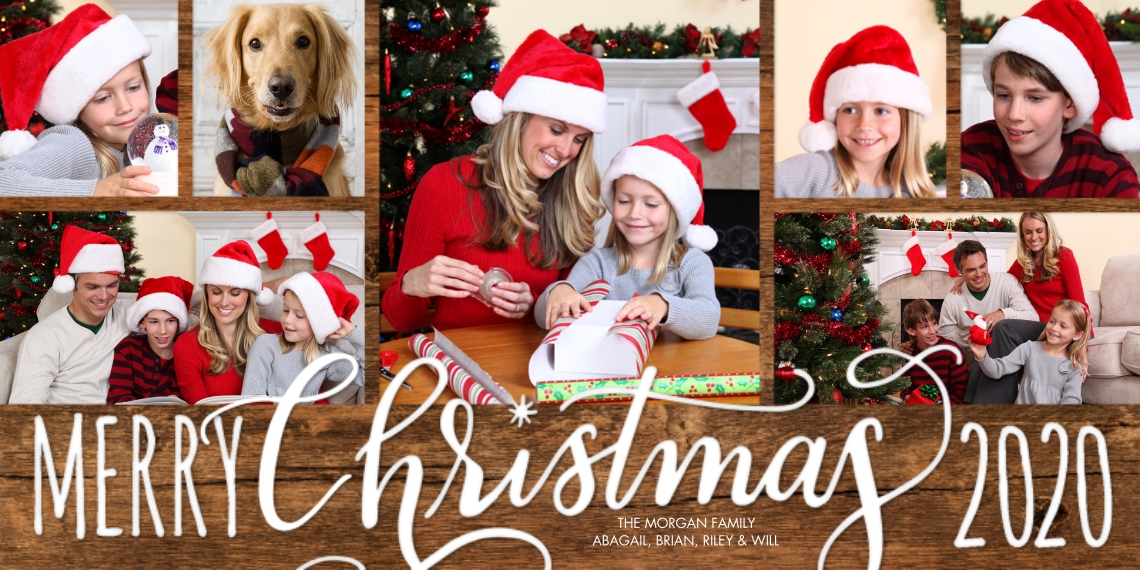 Christmas Photo Cards Flat Matte Photo Paper Cards with Envelopes, 4x8, Card & Stationery -Christmas 2020 Red Merry by Tumbalina