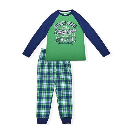 Sleep On It Big Boys 2-pc. Pant Pajama Set, 6-7 (s) , Green