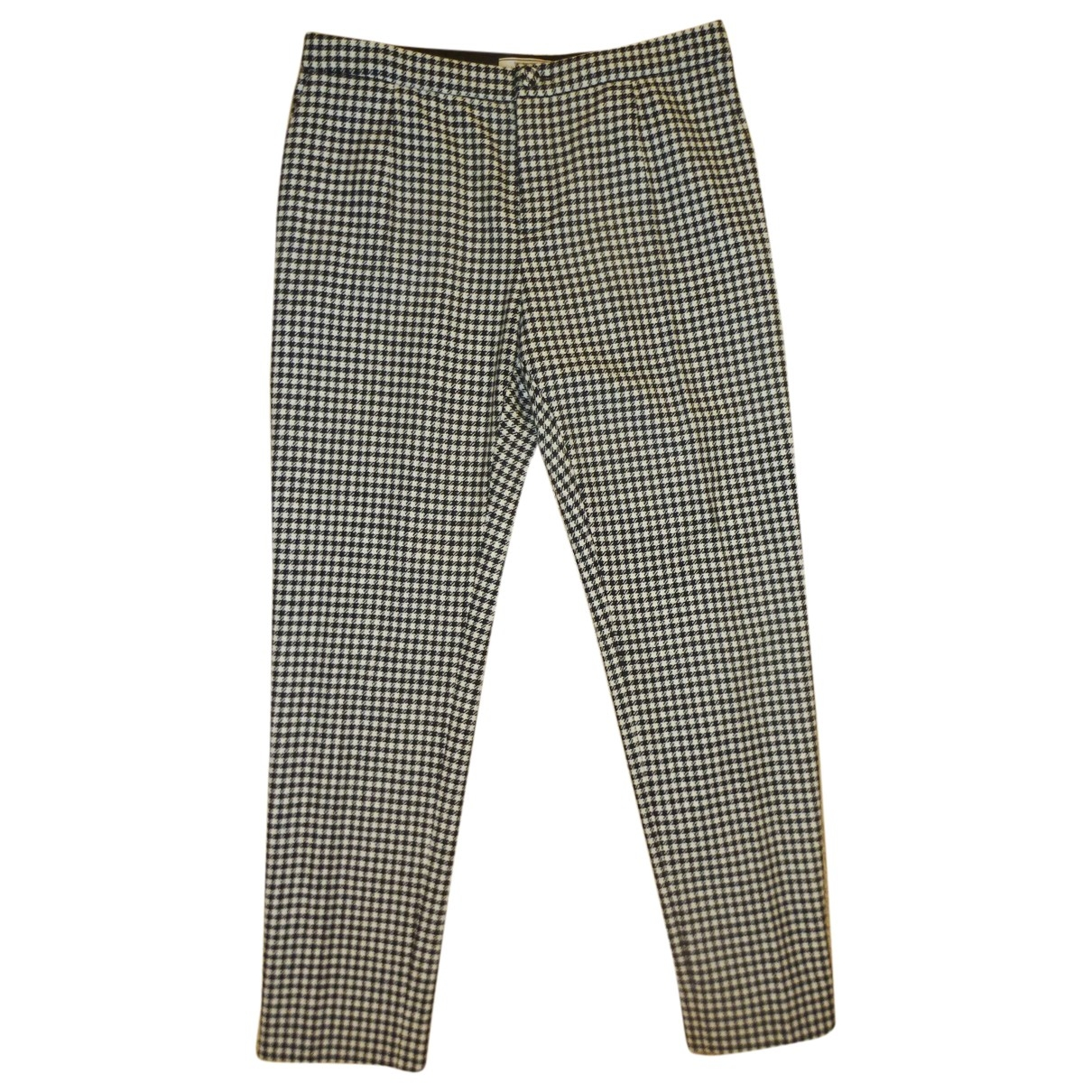 Bouchra Jarrar \N Black Wool Trousers for Women 42 FR