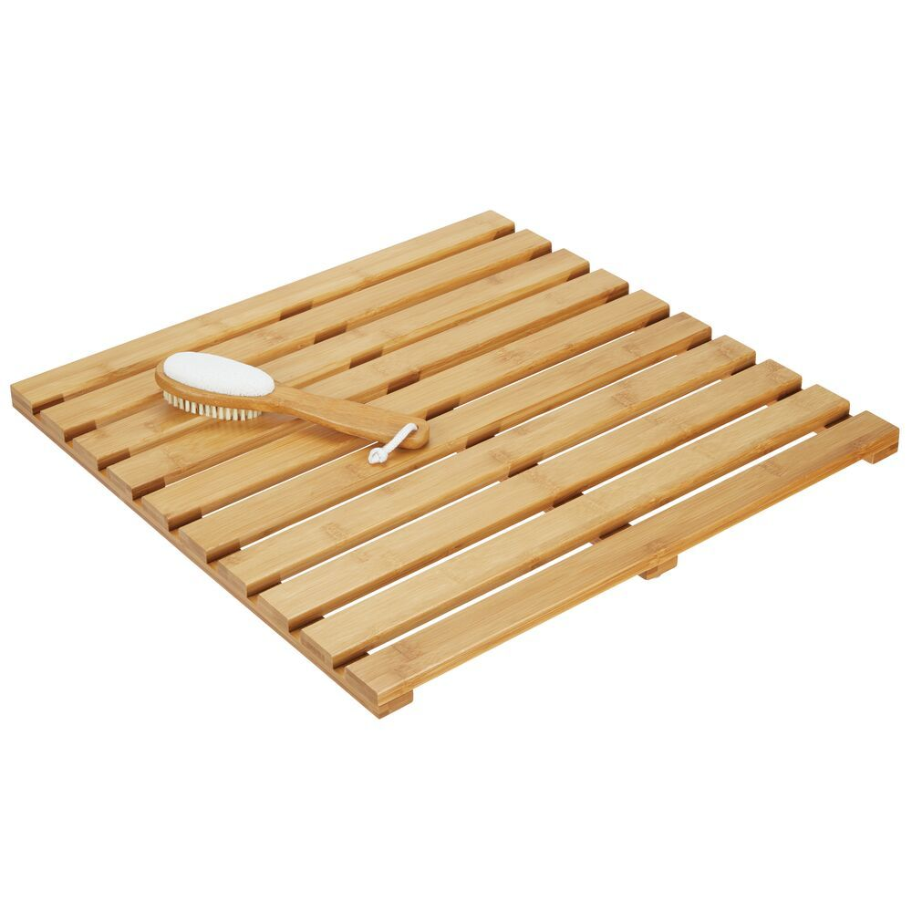mDesign Natural Bamboo Spa Mat for Bathroom 20