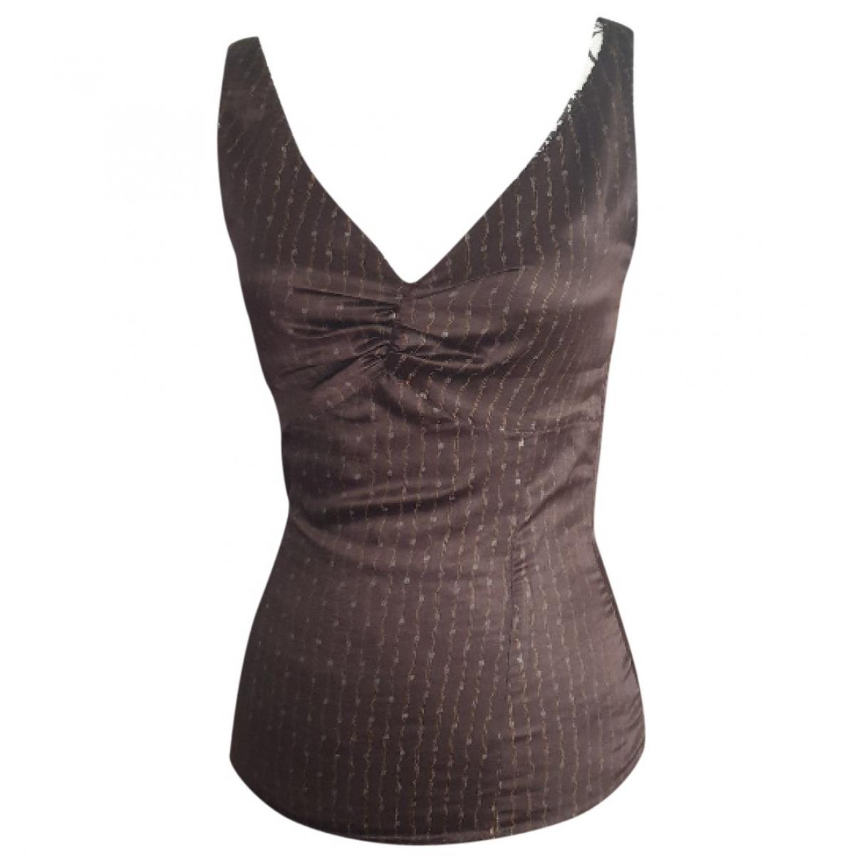 Comptoir Des Cotonniers - Top   pour femme en soie - marron