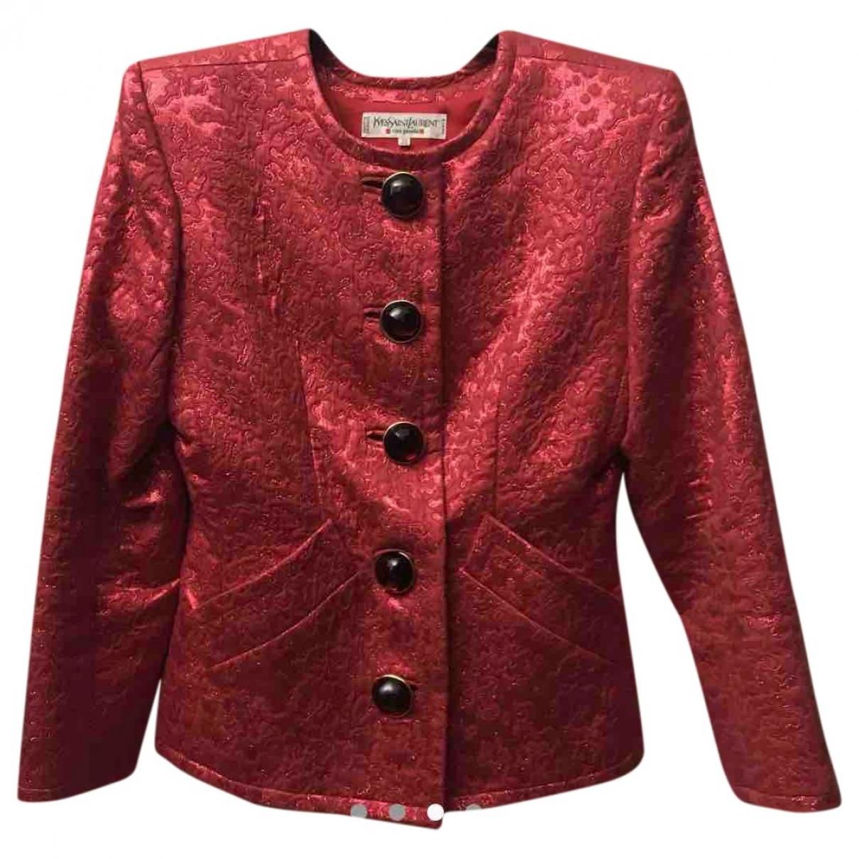 Yves Saint Laurent \N Kleid in  Rot Tweed