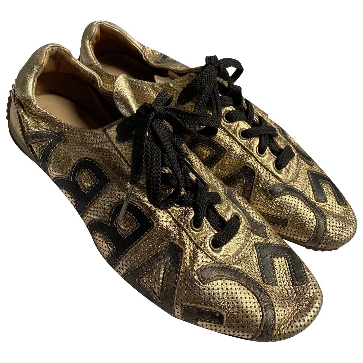 Dolce & Gabbana \N Sneakers in  Gold Leder