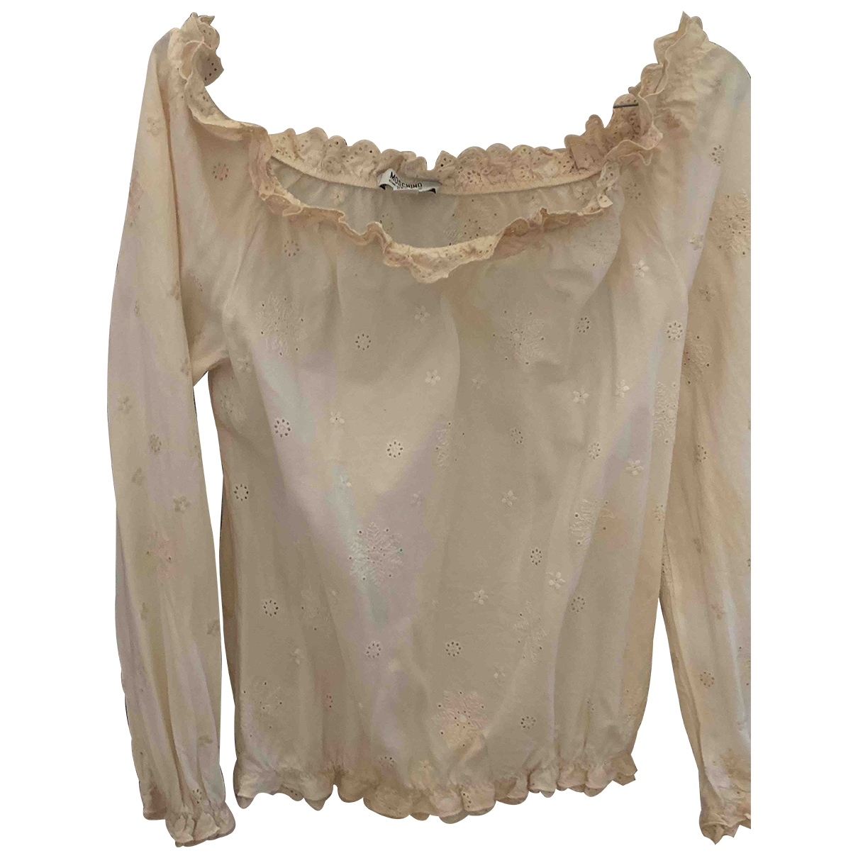Moschino Cheap And Chic \N Beige Cotton  top for Women 40 IT