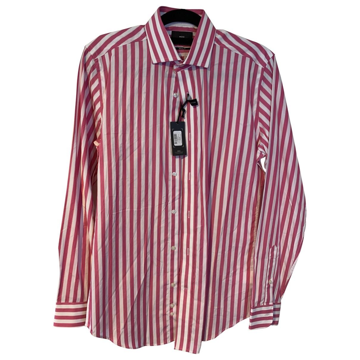 Non Signé / Unsigned \N Pink Cotton Shirts for Men 15 UK - US (tour de cou / collar)