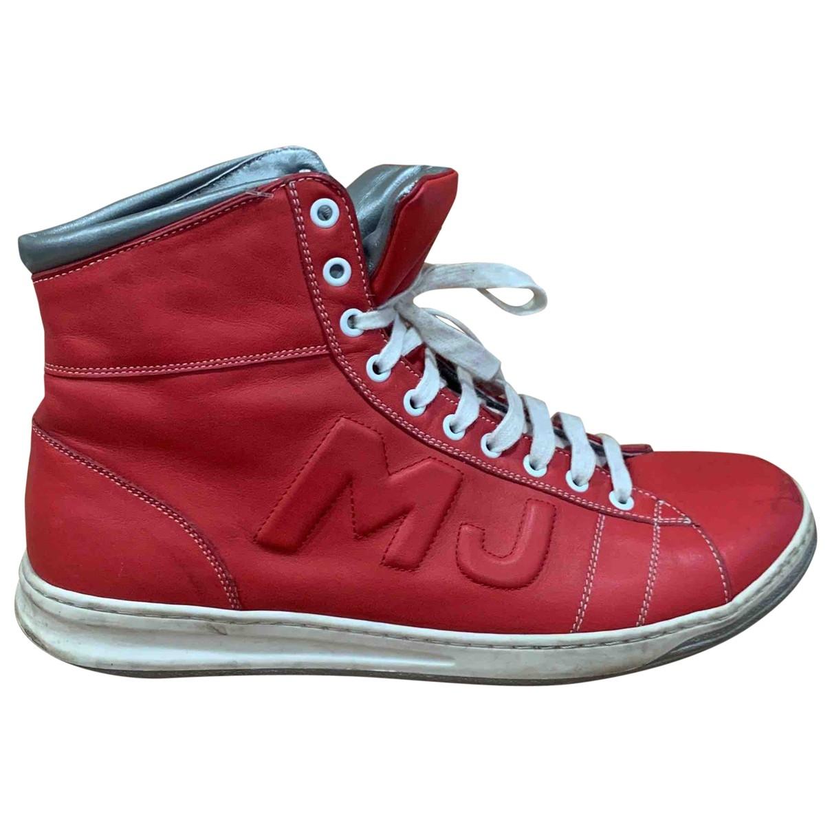 Marc Jacobs - Baskets   pour homme en cuir - rouge
