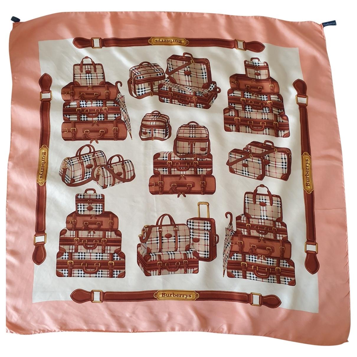 Burberry \N Beige Silk Silk handkerchief for Women \N