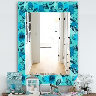 Designart 'Costal Creatures 10' Traditional Mirror - Wall Mirror (29.5 in. wide x 39.4 in. high)