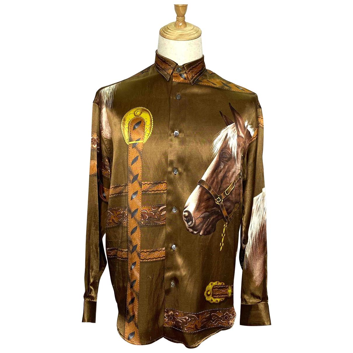 Byblos \N Brown Shirts for Men 40 EU (tour de cou / collar)