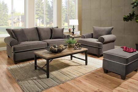 Montana Collection 1829034SET 4PC  Living Room Set with Sofa  Loveseat  Chair and Ottoman in Brown
