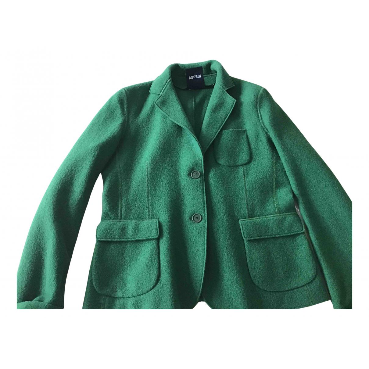 Aspesi - Veste   pour femme en laine - vert