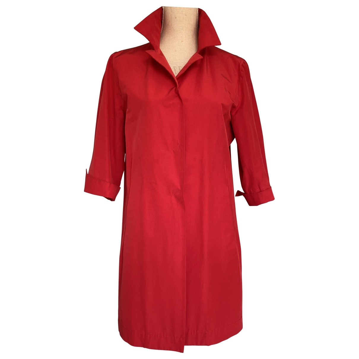 Herno \N Red Cotton Trench coat for Women 44 IT