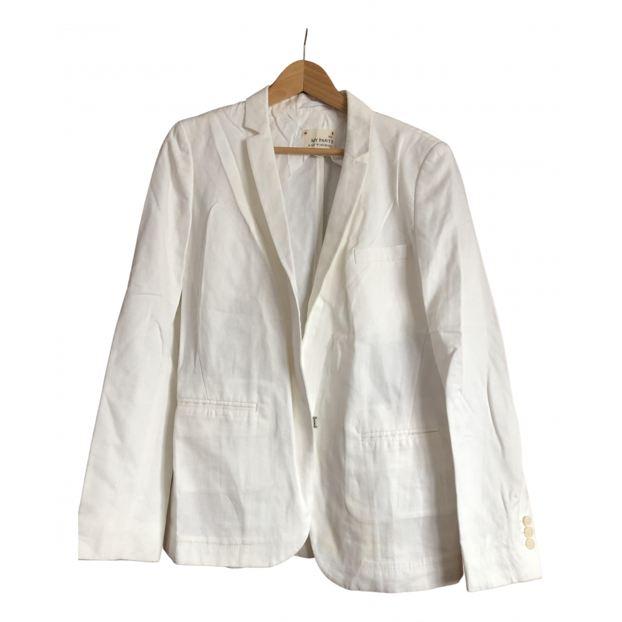 My Pant's \N White Linen jacket for Women 42 FR