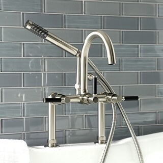 Kaiser 7-Inch Deck Mount Clawfoot Tub Faucet (Brushed Nickel)