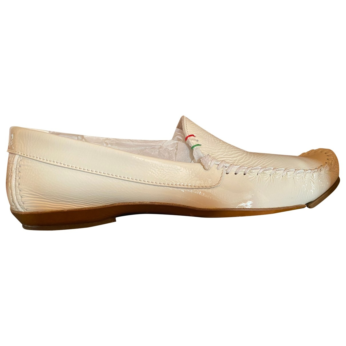 Moschino Love \N White Leather Flats for Men 44 EU