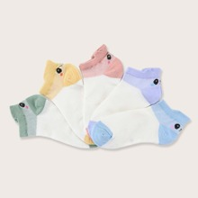 5pairs Toddler Kids Color Block Socks