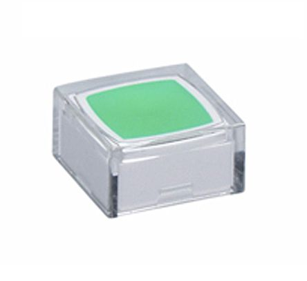 NKK Switches Clear, Green Tactile Switch Cap for use with JB Series Tactile Switches (5)
