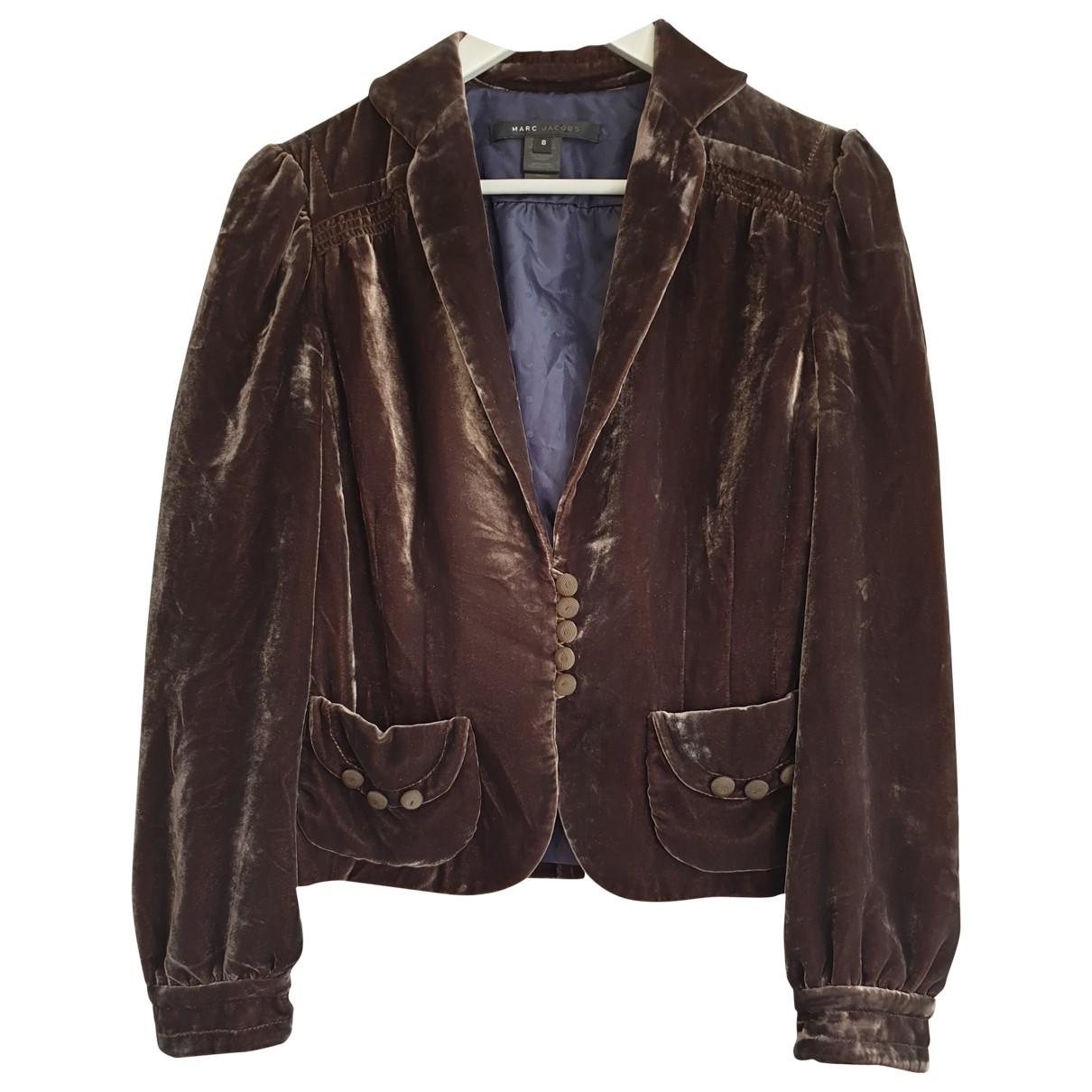 Marc Jacobs - Veste   pour femme en velours - marron