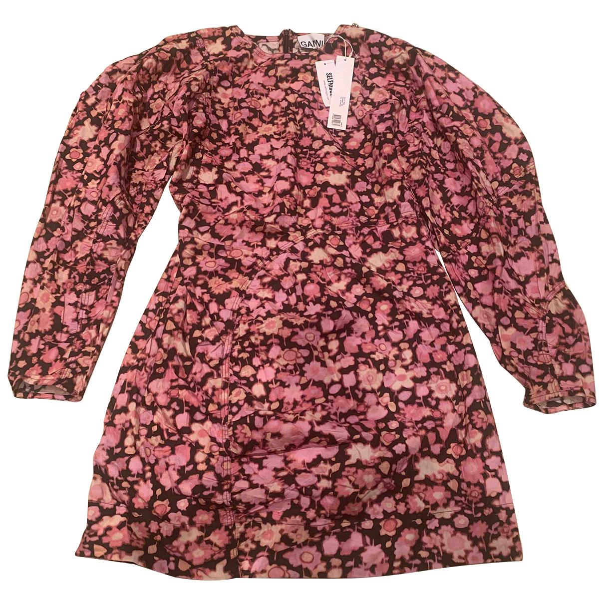 Ganni Spring Summer 2020 Kleid in  Lila Baumwolle