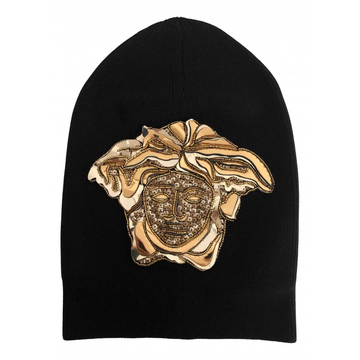 Versace N Black Wool hat & pull on hat for Men M International