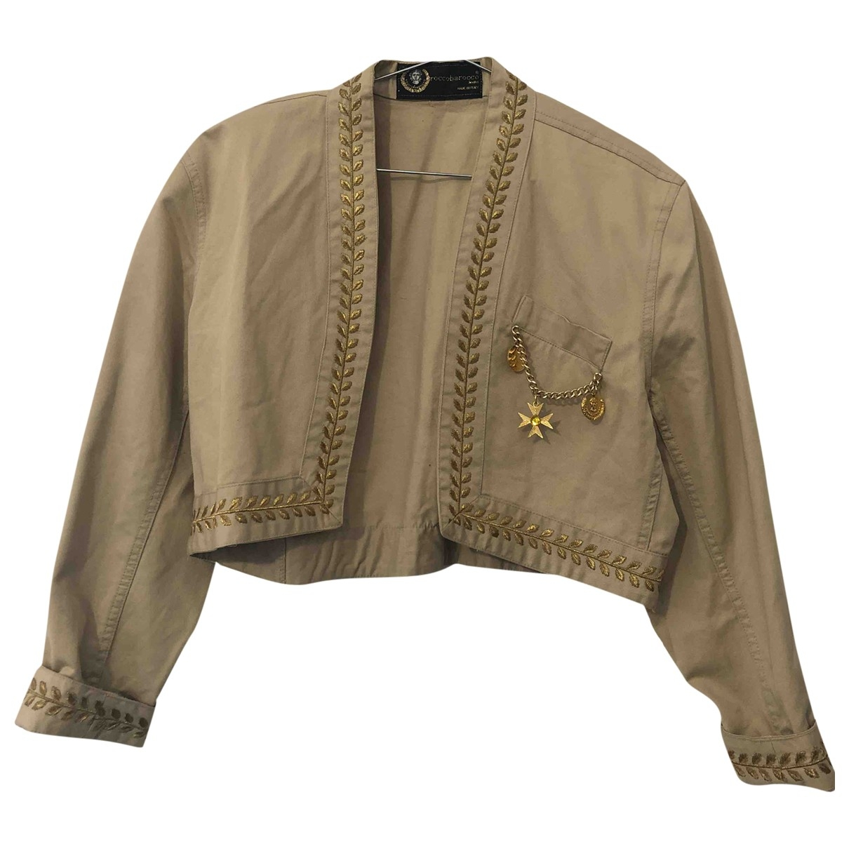 Non Signé / Unsigned \N Beige Cotton jacket for Women 42 IT