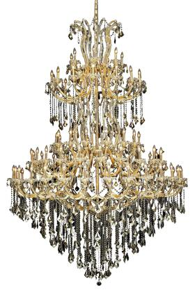 2800G96G-GT/SS 2800 Maria Theresa Collection Large Hanging Fixture D72in H96in Lt: 84 Gold Finish (Swarovski Strass/Elements Golden