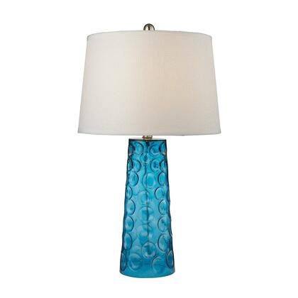 D2619 Blue Hammered Glass Table Lamp  In Pure