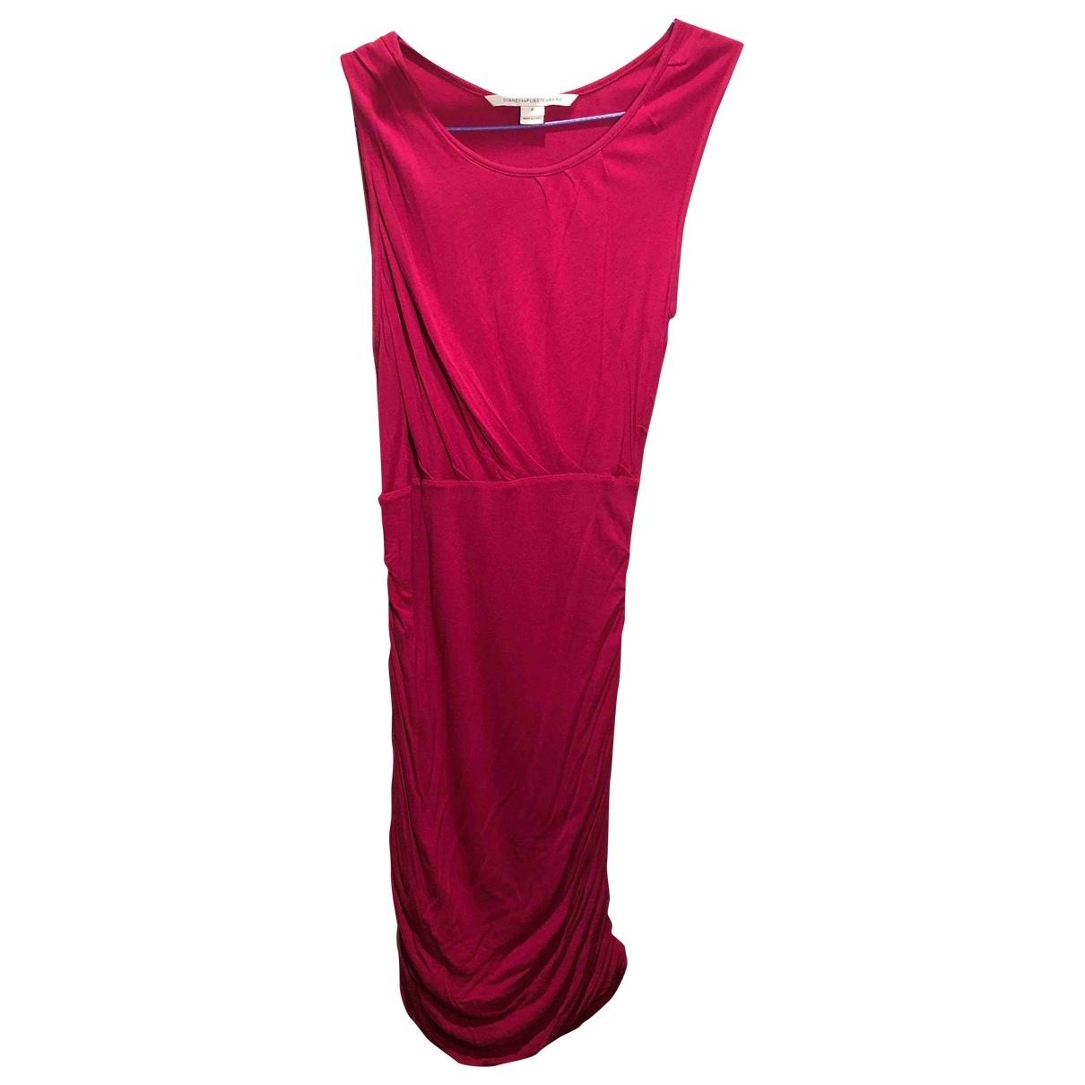 Diane Von Furstenberg \N Kleid in  Rosa Baumwolle - Elasthan
