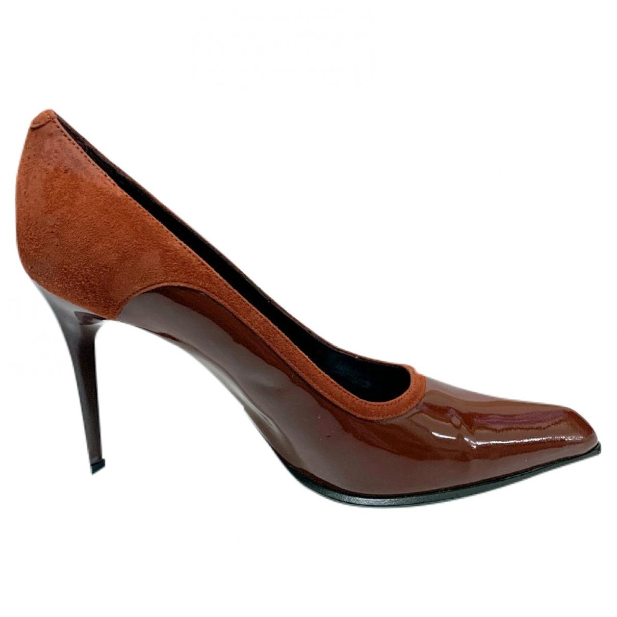 Tods - Escarpins   pour femme en cuir - bordeaux