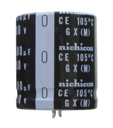 Nichicon 270μF Electrolytic Capacitor 450V dc, Snap-In - LGZ2W271MELC45 (200)