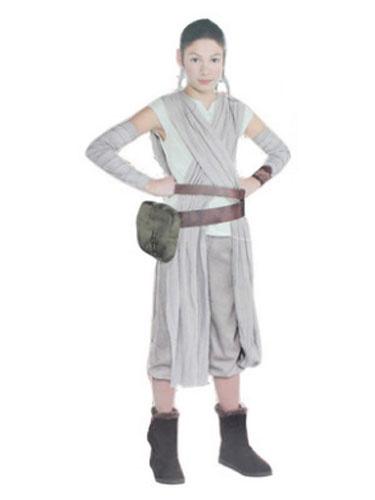Milanoo Star Wars Costume Princess Rey Light Grey 3 Pcs For Girls