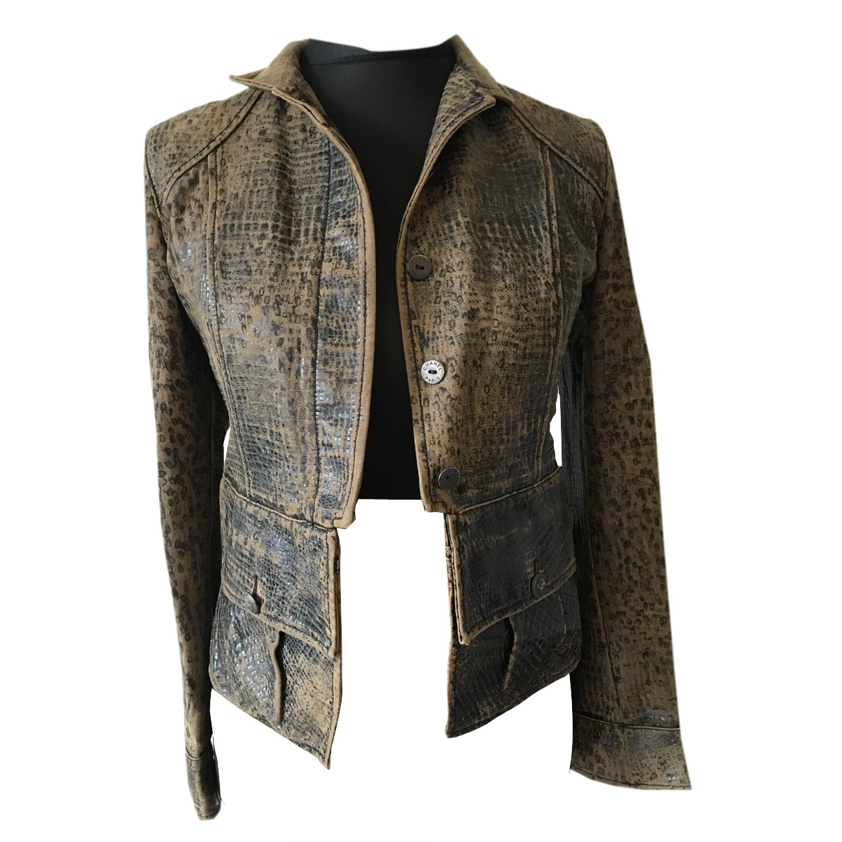 Chanel N Brown Leather jacket for Women S International