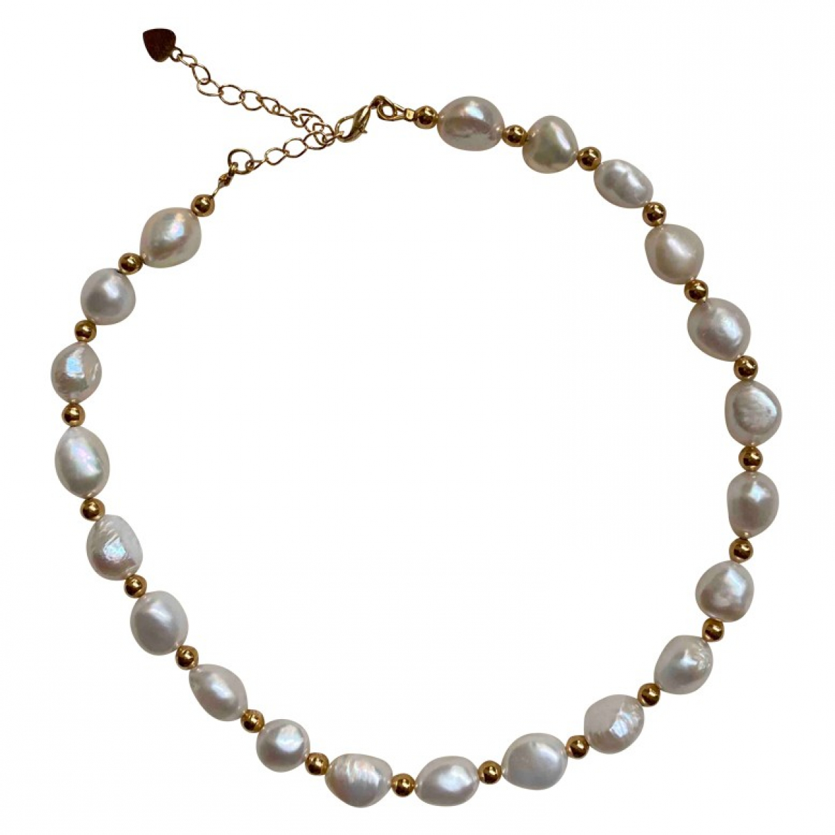 Non Signe / Unsigned \N Kette in  Beige Perle