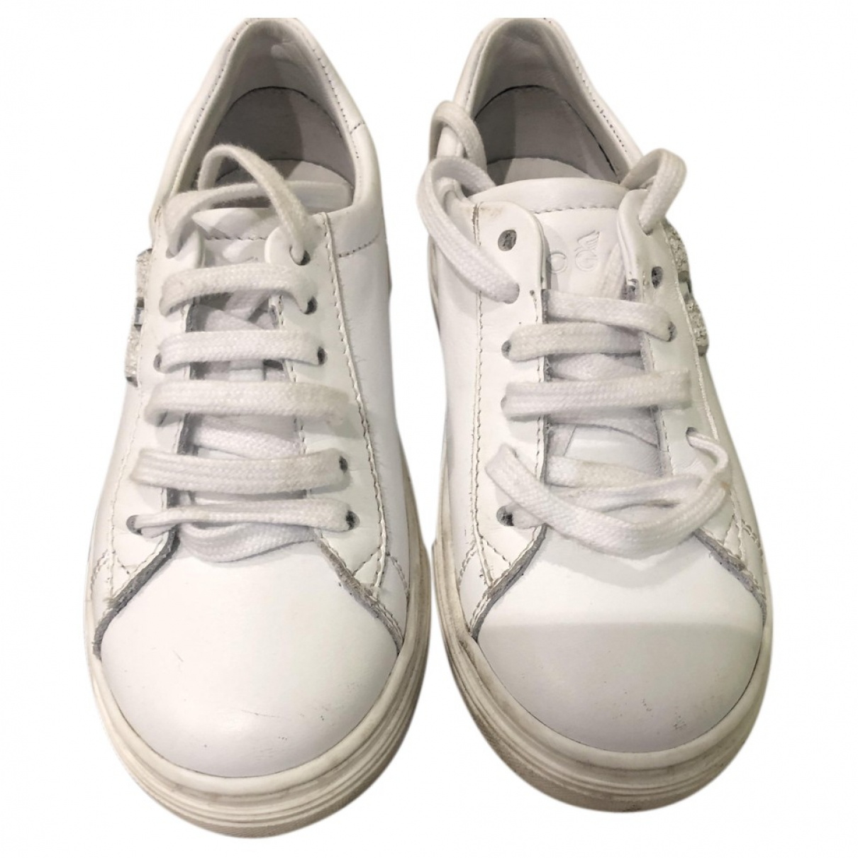 Hogan \N White Leather Trainers for Kids 28 FR