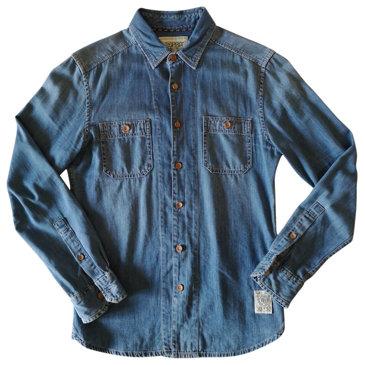 Esprit \N Blue Denim - Jeans Shirts for Men S International