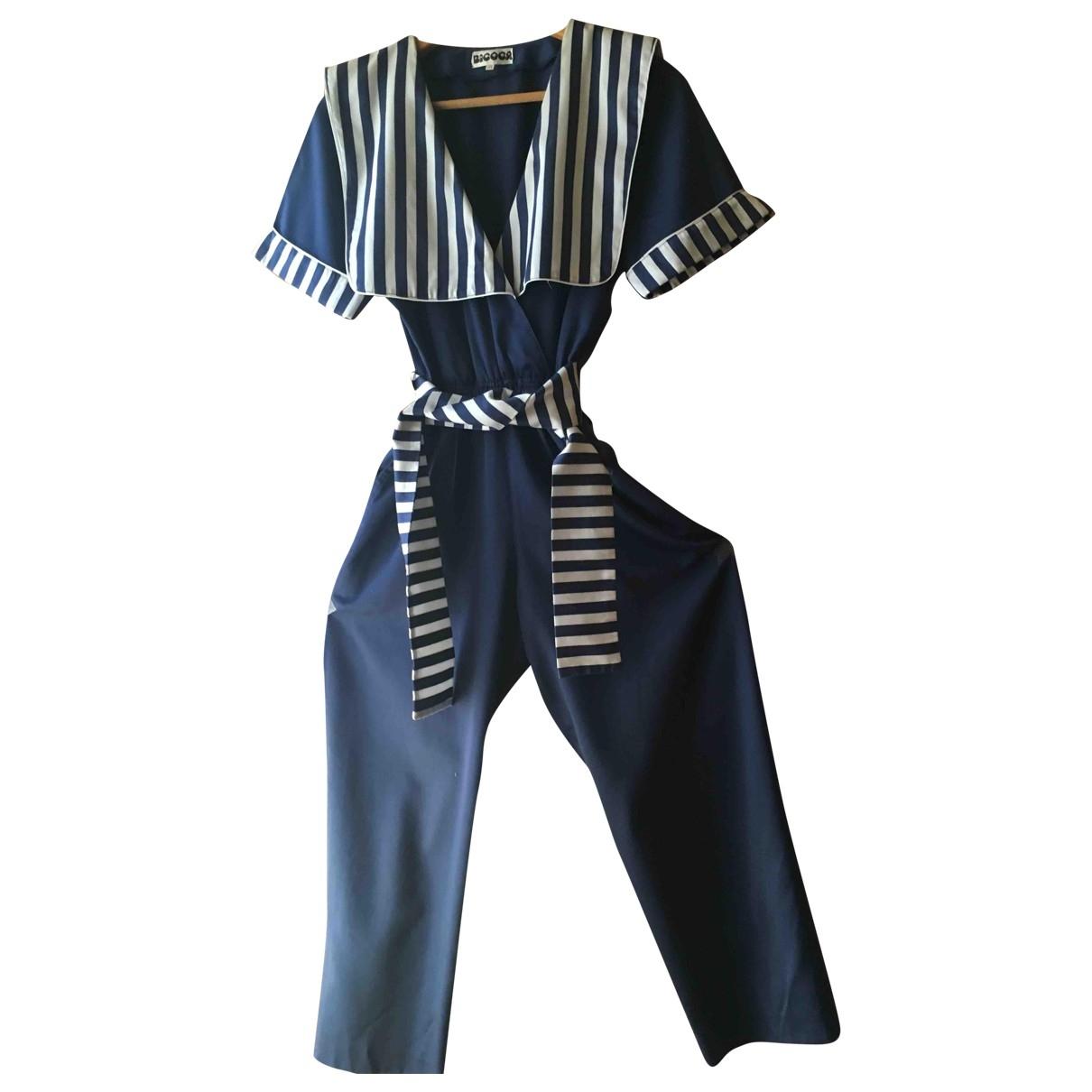 - Combinaison   pour femme en coton - bleu